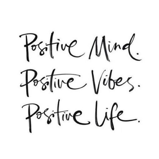 positive mind-positive vibes positive life