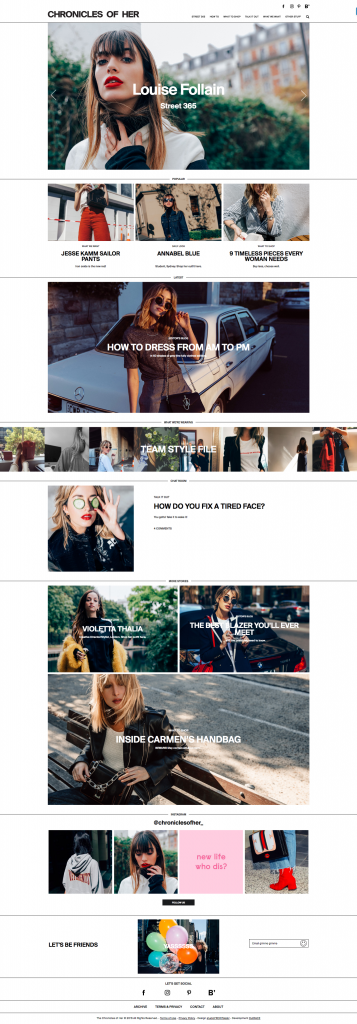 Best Fashion Blog Web Designs 2016 chronicles-of-her