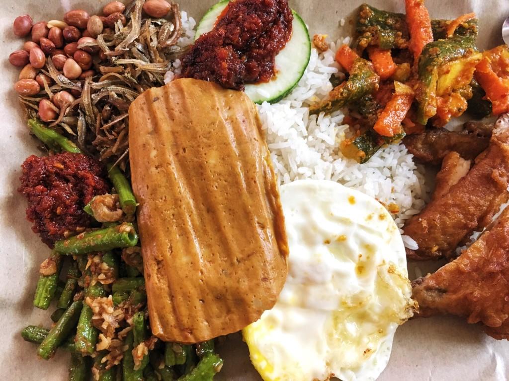 Nais Lemak Singapore Local Food Hawker Dish Cuisine