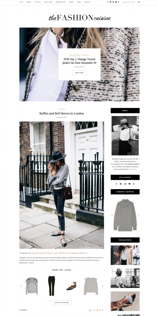 Best Fashion Blog Web Designs 2016 thefashioncuisine