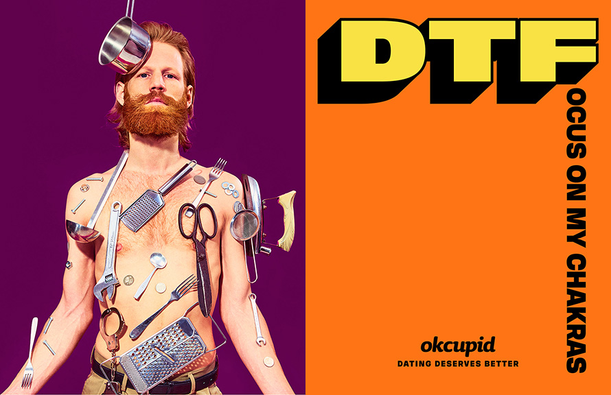 OkCupid's Latest 'DTF' in Ads That Are Like Little Works of Art