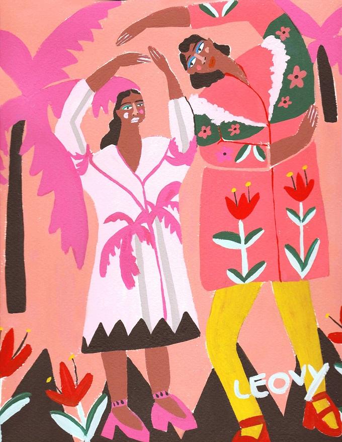 Exploring Artist and Illustrator Ana Leovy Colourful Bursts of Art