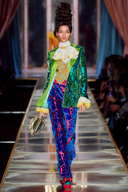 Moschino 2020 Obsessed Victorian Runway Fashion Week