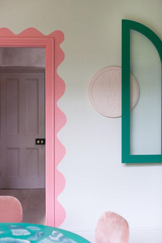 Lifestyle Interior Trend Aesthetic Interior 2021 Pastel Mirror Wavy Curve